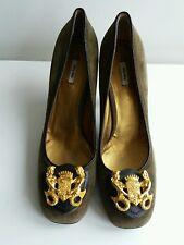 Ladies MIU MIU Genuine Suede Leather Court Heels Shoes 38.5 UK 5.5 - T16