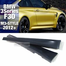 M3 Style Side Skirts Body Parts LH+RH (PP) For BMW 2012-2016 3 Series F30 Sedan