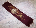 Antique Victorian Religious Bookmark - Silk, Embroidery & Image of Madonna/Child