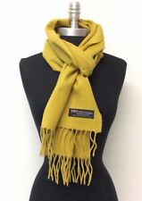 New Women Men 100% Cashmere Wool Scarf Winter Warm Solid Mustard Shawl Wrap