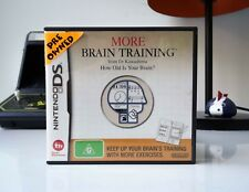 MORE BRAIN TRAINING FROM DR KAWASHIMA: HOW OLD IS YOUR BRAIN? - DS | COMPLETE