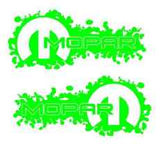 2 GREEN Mopar Decals Sticker dodge jeep ram 1500 2500 4x4 hemi 4x4 3500