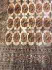 """Vintage Hand Made / Knotted Geometric Oriental Rug Carpet Room sized 8'4""""x10'10"""""""