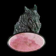 Carved Horse & A GEM Pendant Bead GC600016