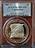 1987-S Constitution Silver Commemorative Dollar PCGS PR69DCAM