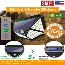 1-4 un. 100 LED Energía Solar Sensor De Movimiento Infrarrojo Pasivo Luz De Pared Lámpara al aire libre impermeable.