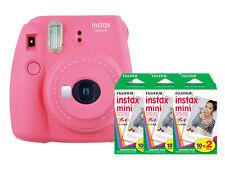 Fuji Instax Mini 9 (Flamingo Pink) Camera with 3 Mini Film Twin Packs Bundl
