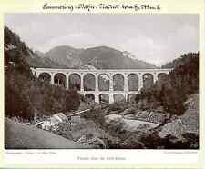 J. Löwy, Österreich, Semmering-Bahn, Viaduct über die kalte Rhine  Vintage print
