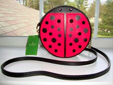 NWT KATE SPADE MICHA LUCKY LADYBUG RED BLACK LEATHER CROSSBODY PURSE