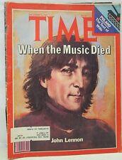Time Magazine December 22 1980 John Lennon When The Music Died