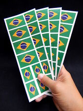 40 Removable Stickers: Brazil Brasil Flag, Brazilian Party Favors, Decals