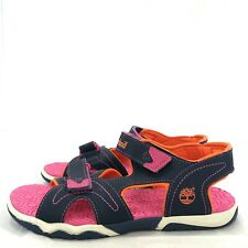New Timberland Sandals EU 39 UK 5.5 Girls Navy Blue Pink Strappy Walking 172368