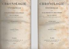 Ch.DREYSS.Chronologie Universelle suivie de listes et tableaux Généalogiques