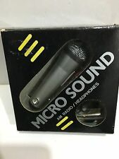 VINTAGE  MINI MICRO RADIO  IN SHAPE OF A MIC MW-(AM)  1960S-1970s WITH BOX