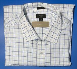 16 1/2 x 35 J CREW Ludlow Slim Stretch Dress Shirt In Seaside Blue H4844 NWT