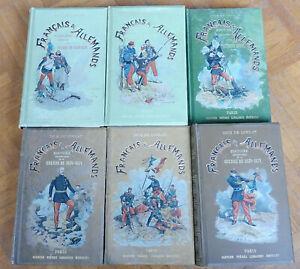 Français et allemands (Dick de Lonlay) 1887-91 6 vol. COMPLET