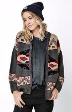 WOMEN'S/JRS OBEY Adri HEAVY Sweater Cardigan  NEW $105