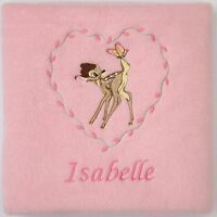 Bambi Babydecke Fleece - oder Klopfer ( Jedes Disney Charakter personalisiert