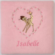 Bambi Baby Blanket Fleece - or Thumper (or any Disney Character!)   Personalised