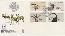 SOUTH WEST AFRICA 1980 FDC + INSERT - IMPALA - TSSESSEBE - ROAN & SABLE ANTELOPE
