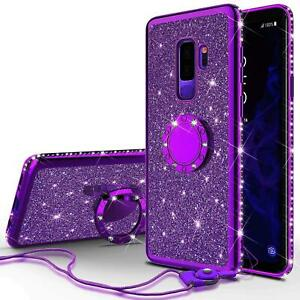 Bling Diamond Ring Holder Case For Samsung Galaxy S20 S9 S8 S10 A8 A6 Note 20