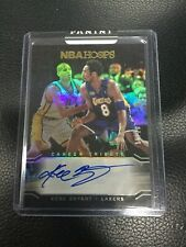 2017-18 NBA Hoops PREMIUM Kobe Bryant Tribute #299 On Card Autograph Auto 15/20