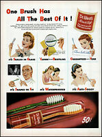 1945 Dentist mom girls Dr. West's tooth brush vintage art print ad adL53