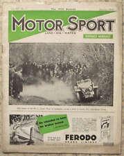 MOTOR SPORT Magazine Jan 1939 Vol 15 No 1 Brooklands