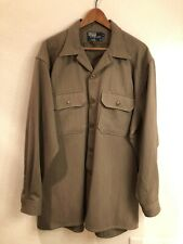 Polo Ralph Lauren vintage imported wool button-front shirt jacket (size: L)