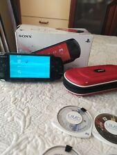 Sony PSP 3004 + 9 Giochi+ caricatore+ custodia NERO FUMO