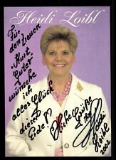 Heidi Loibl Autogrammkarte Original Signiert ## BC 44047