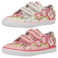 Chaussures roses avec attache auto-agrippant en toile pour fille de 2 à 16 ans