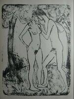 Otto MÜLLER (1874-1930) - zwei Akte, Lithografie ca. 1922