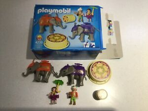 Playmobil Circus Rare Elephant Performer Set With Figures Set 4235