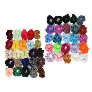 50 Pack Lady Soft Hair Scrunchies Hair Bands Hair Bobbles Hair Accessories