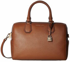 Michael Kors Mercer Pebbled Leather Duffel Bag - Brown