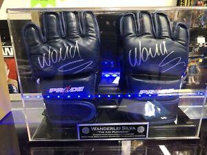 Wanderlei Silva Ring Worn Pride Signed Gloves Psa With Case