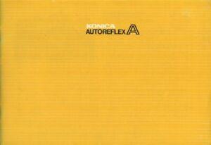 Konica Autoreflex A Instruction Manual Original