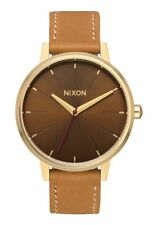 **BRAND NEW** NIXON THE KENSINGTON LEATHER LIGHT GOLD MANUKA SADDLE A1082804 NIB