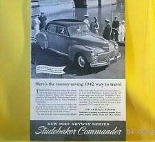 New ListingStudebaker Commander Skyway Series / Magazine Print Ad / December 1941