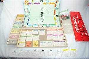Vintage 60s 1961 Monopoly Parker Bros No. 9 Real Estate Trading Board Game