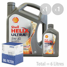 Engine Oil and Filter Service Kit 6 LITRES Shell Helix Ultra 5W-40 synth 6L