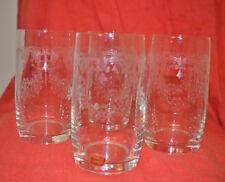 Bohemian glasses. Set 4. Transparent engraved. Excellent condition.
