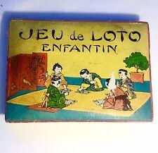 Ancien Jeu De Loto 1890 / 1900  Enfant Japon