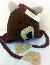 River Island Ladies Womens Girls BEAR Animal Aviator Trapper Hat *RRP £18*