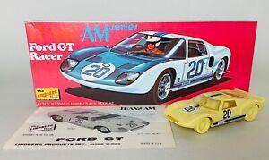 Vintage The Lindberg Line - Ford GT Racer 1/32 Scale Model Kit - Built