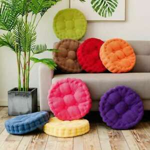 Comfort Round Thick Seat Pads Booster Chair Sofa Cushions Office Home Floor Mat