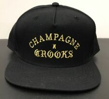 Crooks & Castles Champagne & Crooks Cold Black Rare Snapback Hat FREE SHIPPING
