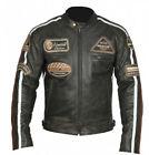moto cuir blouson de moto cuir Janke Hachoir VESTE TAILLE XL