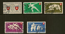 SWITZERLAND :1950 National Fete set SG 522-6 fine used